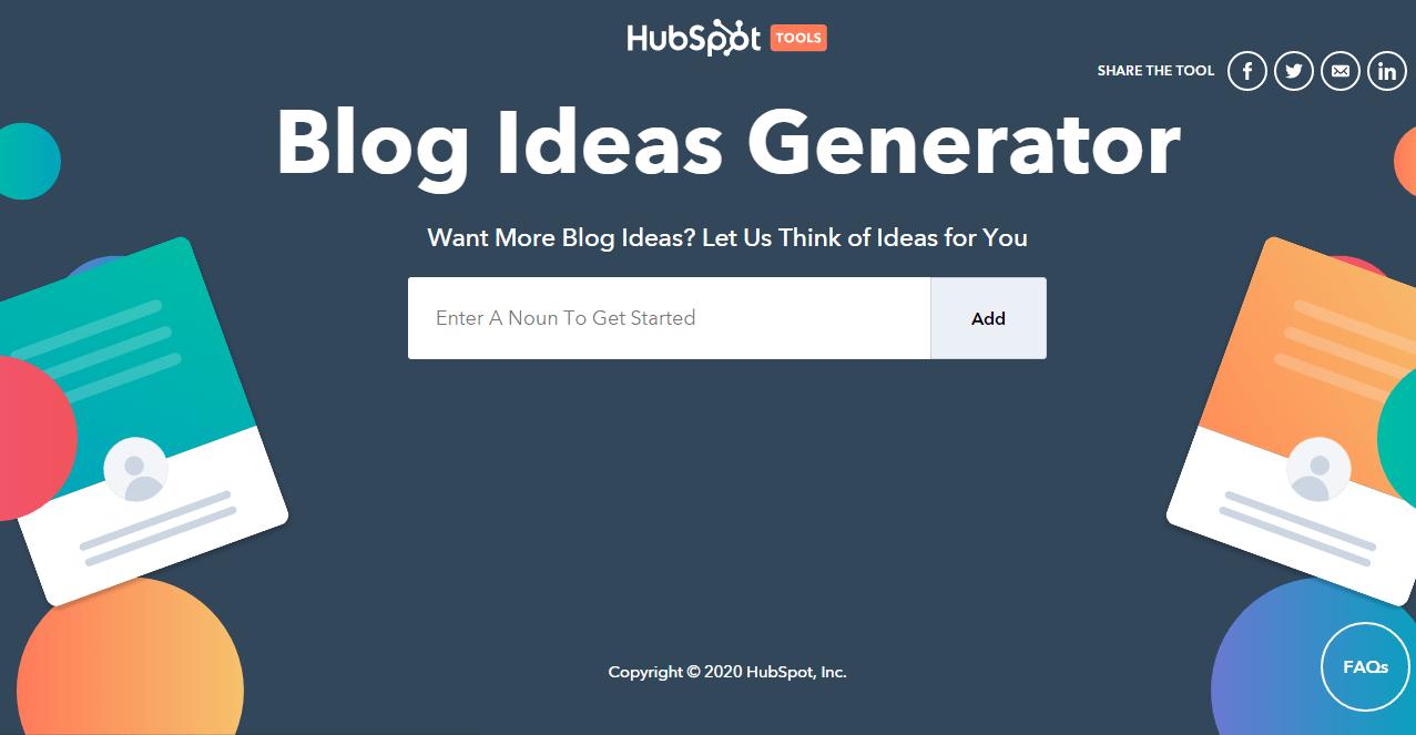 Trình tạo chủ đề blog Hubspot
